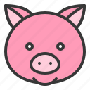 animal, farm, farming, pig icon