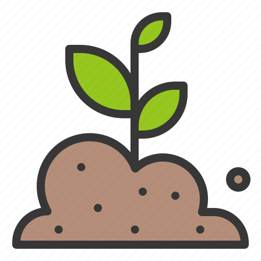 farming, plant, seedling, sprout, tree, young plant icon