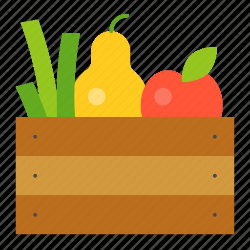 apple, basket, farm, fruit, fruit basket icon