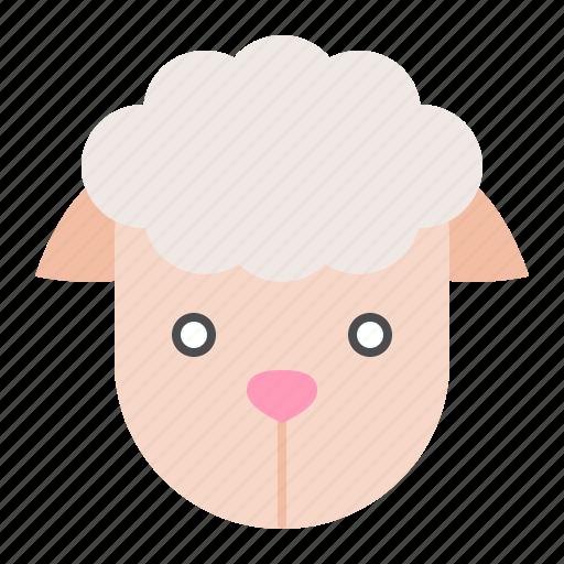 animal, farm, sheep, sheep face icon