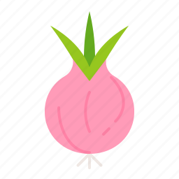 farm, food, red spring onion, vegetable icon