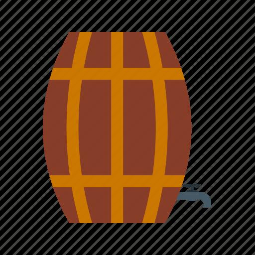 barrel, barrels, empty, farm, food, wheat, wooden icon