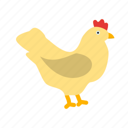 chicken, farm, food, hen, meat, nature, poultry icon