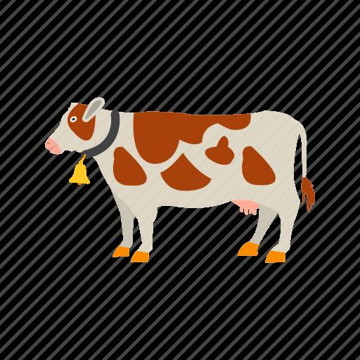 cows, farm, field, grass, landscape, milk, rural icon