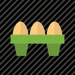 brown, eggs, farm, food, fresh, healthy, protein icon