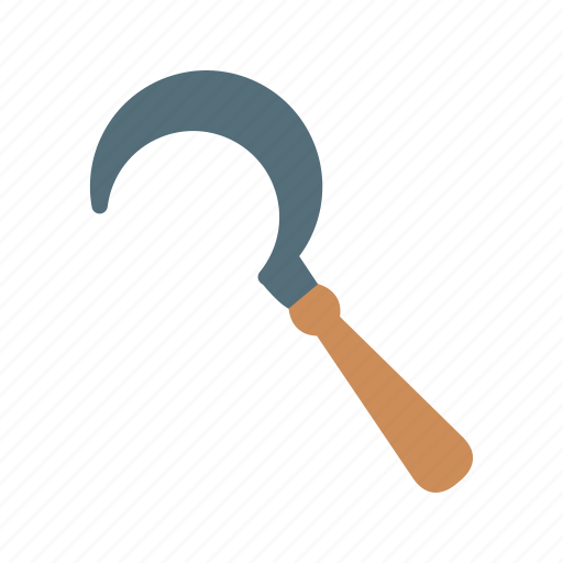 agriculture, field, garden, rural, set, sickle, work icon