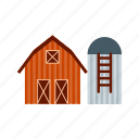 agriculture, farm, farmer, grain, silo, storage, wheat icon