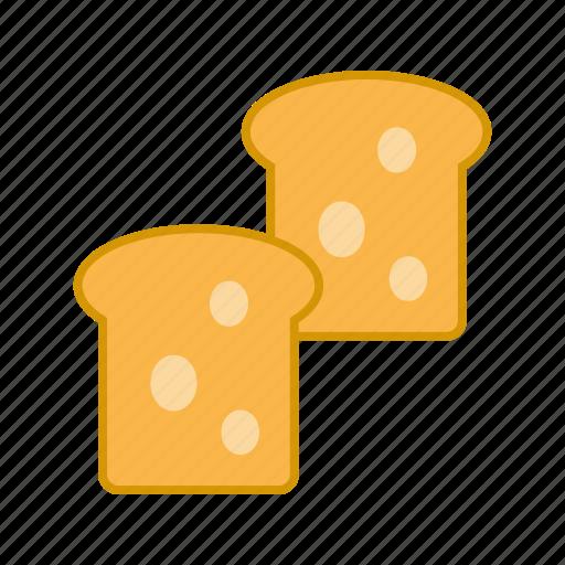 bread, breakfast, food, grain, loaf, slice, wheat icon