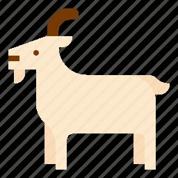 animal, farm, goat, mammal icon