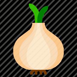 farm, onion, vegetable icon