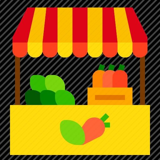 market, stall, store icon