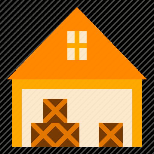 farm, goods, warehouse icon