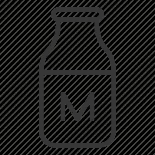 Fariming, milk bottle, dairy product, drink, milk icon