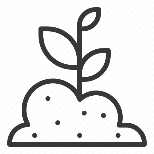 fariming, seedling, sprout, tree, young plant icon