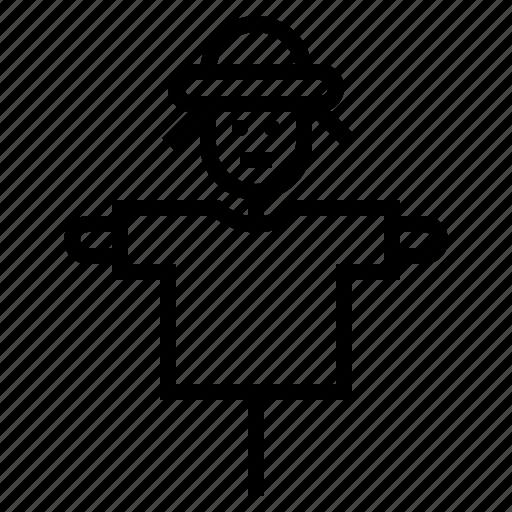 hay, scarecrow icon