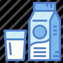 calcium, dairy, drink, milk icon