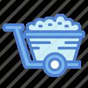 cart, garden, trolley, wheelbarrow icon