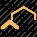 barn, building, farm, home, house icon