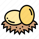 chicken, easter, egg, food icon