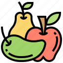 apple, diet, food, fruit, mango icon