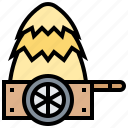 farm, harvest, hay, haystack, straw icon