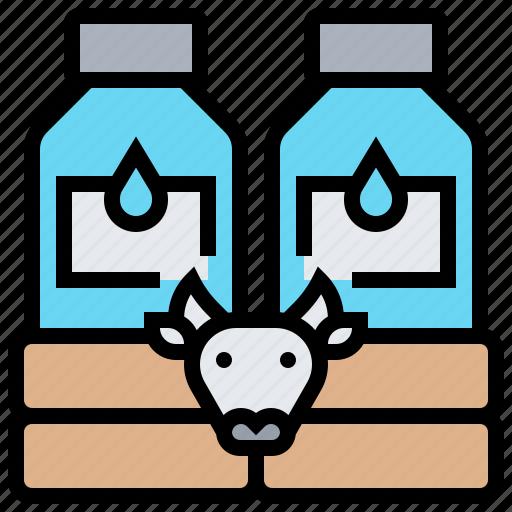 beverage, bottle, cow, drink, milk icon