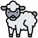 animal, farm, lamb, sheep, wool icon