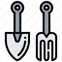 farming, garden, harvest, shovel, spade