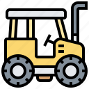 farming, harvest, tracter, transport, vehicle icon
