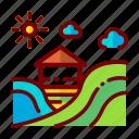 agriculture, farm, farming, fields, harvest, nature icon