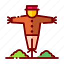 agriculture, farm, farming, harvest, nature, scarecrow icon