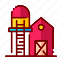 agriculture, farm, farming, harvest, nature, silo icon