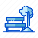 agriculture, bench, farm, farming, harvest, nature icon