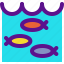 country, ecology, fish, hatchery, tools icon