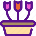bucket, country, ecology, flower, tools icon