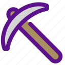country, ecology, pickaxe, tools icon