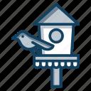 bird feeder, bird home, bird nest, birdhouse, habitat, nesting box, roosting place icon