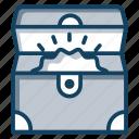 jewelry box, jewelry chest, treasure box, treasure chest, wooden box icon