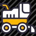 combine, farming, harvester, machine, vehicle