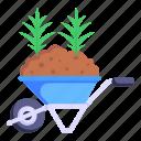 wheelbarrow, dirt carrier, agriculture cart, mulch, barrow