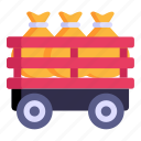 farm trailer, agriculture cart, grains sacks, cart, garden cart
