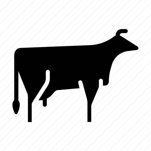 agriculture, cattle, cow, dairy, farm, milk, organic icon