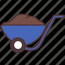 agriculture, barrow, farm, farming, gardening, wheel icon