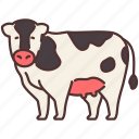 agriculture, animal, cow, farming, gardening, milk icon