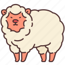agriculture, animal, farm, farming, gardening, sheep icon