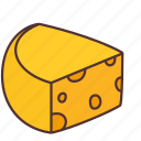 agriculture, bakery, cheese, cooking, dairy, food, product icon