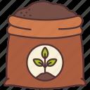 agriculture, bag, farming, fertilizer, gardening, plant icon