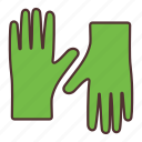 agriculture, farming, gardening, gloves, tool icon