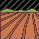 field, farming, agriculture, land, gardening, farm, plot icon
