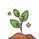 agriculture, farming, gardening, leaves, plant icon